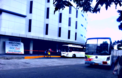 BGC Bus terminal next to MRT Ayala in EDSA