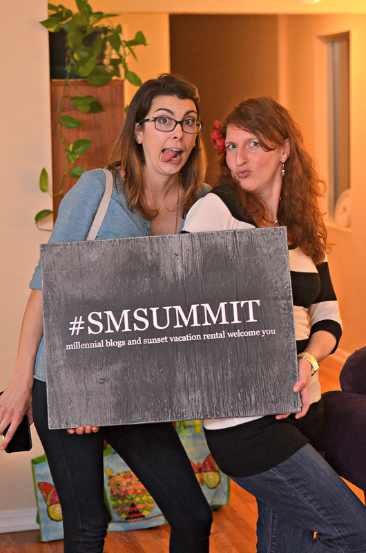 The ladies behind #SMsummit, literally. Chelsea and Amy.