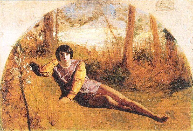 Arthur Hughes   Pre-Raphaelite painterOphelia Painting Arthur Hughes