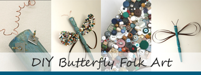 DIY butterfly and dragonfly