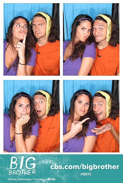 McCrae and Amanda in the Big Brother photo booth