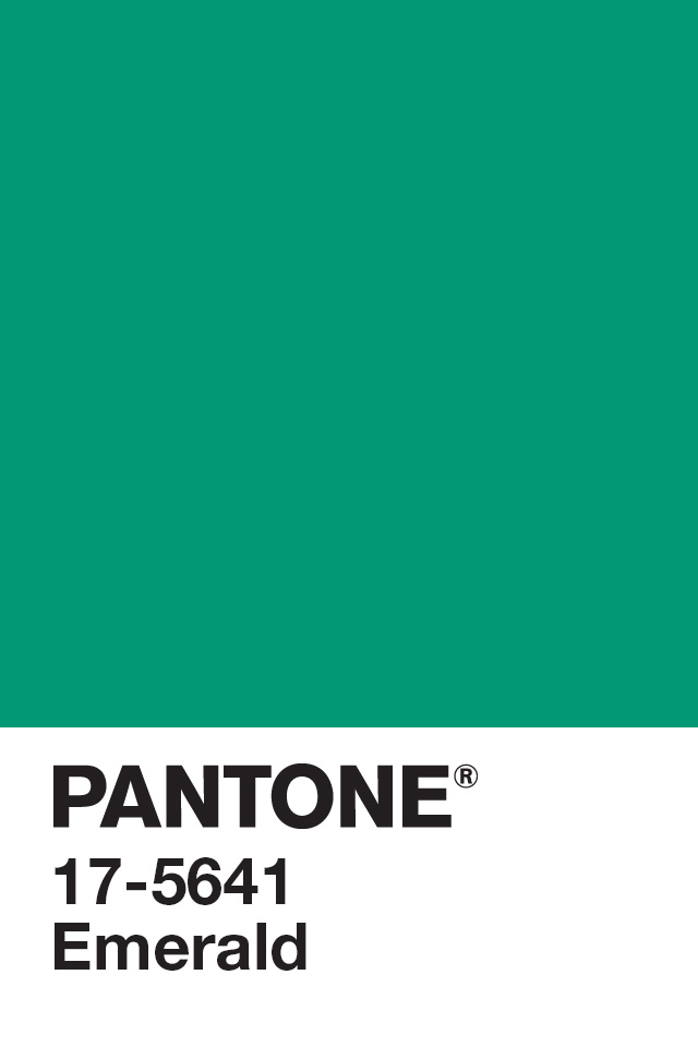 Pantone Emerald Green Paint