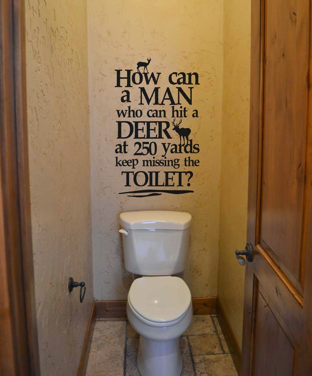 Vinyl 4 decor bathroom humor for the hunter in your life for Hunting bathroom decor