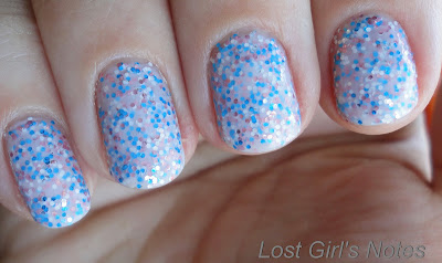 nails inc. sweets way sprinkles review and swatch