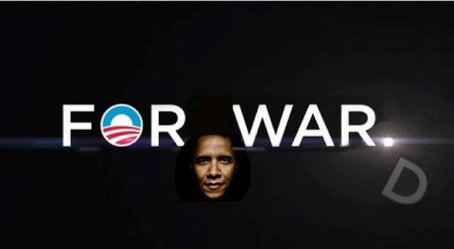 Obamas New Campaign Poster Obama+FOR+WAR+D