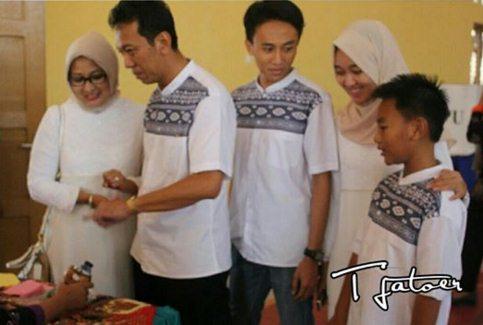Fuad Bersama Keluarga di TPS 7 Gombong