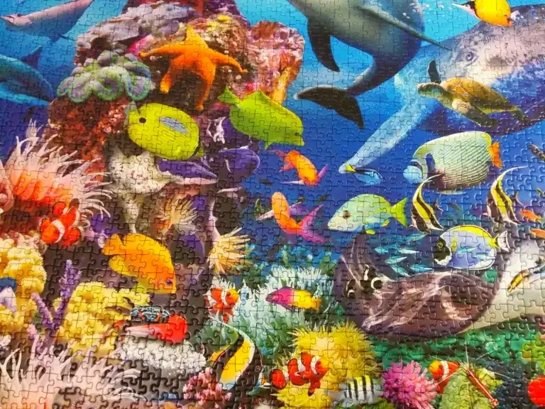 Ravensburger Underwater 2000 piece jigsaw puzzle close-up 5
