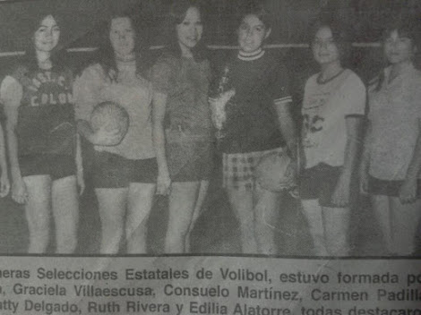 Algunas Veteranas del voleibol Femenil