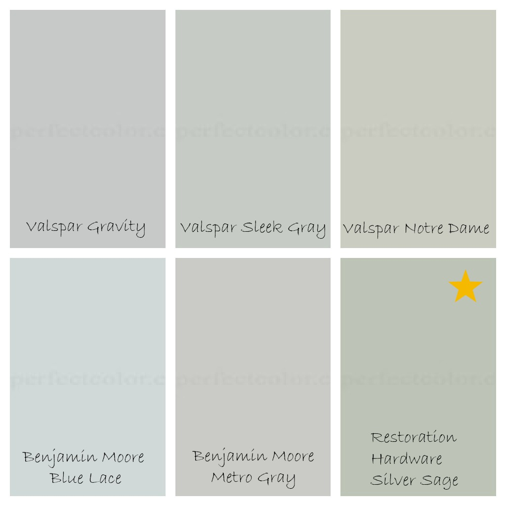 Shades of Blue Gray Paint Colors 1024 x 1024