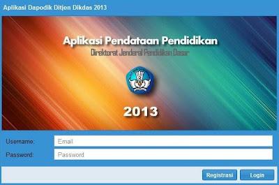 Aplikasi Pendataan Dikdas Dapodik 2013