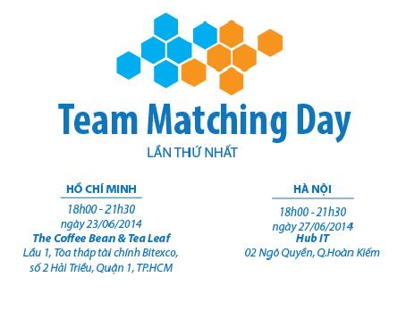 Team Matching Day HCM – Tìm người đồng hành cùng khởi nghiệp