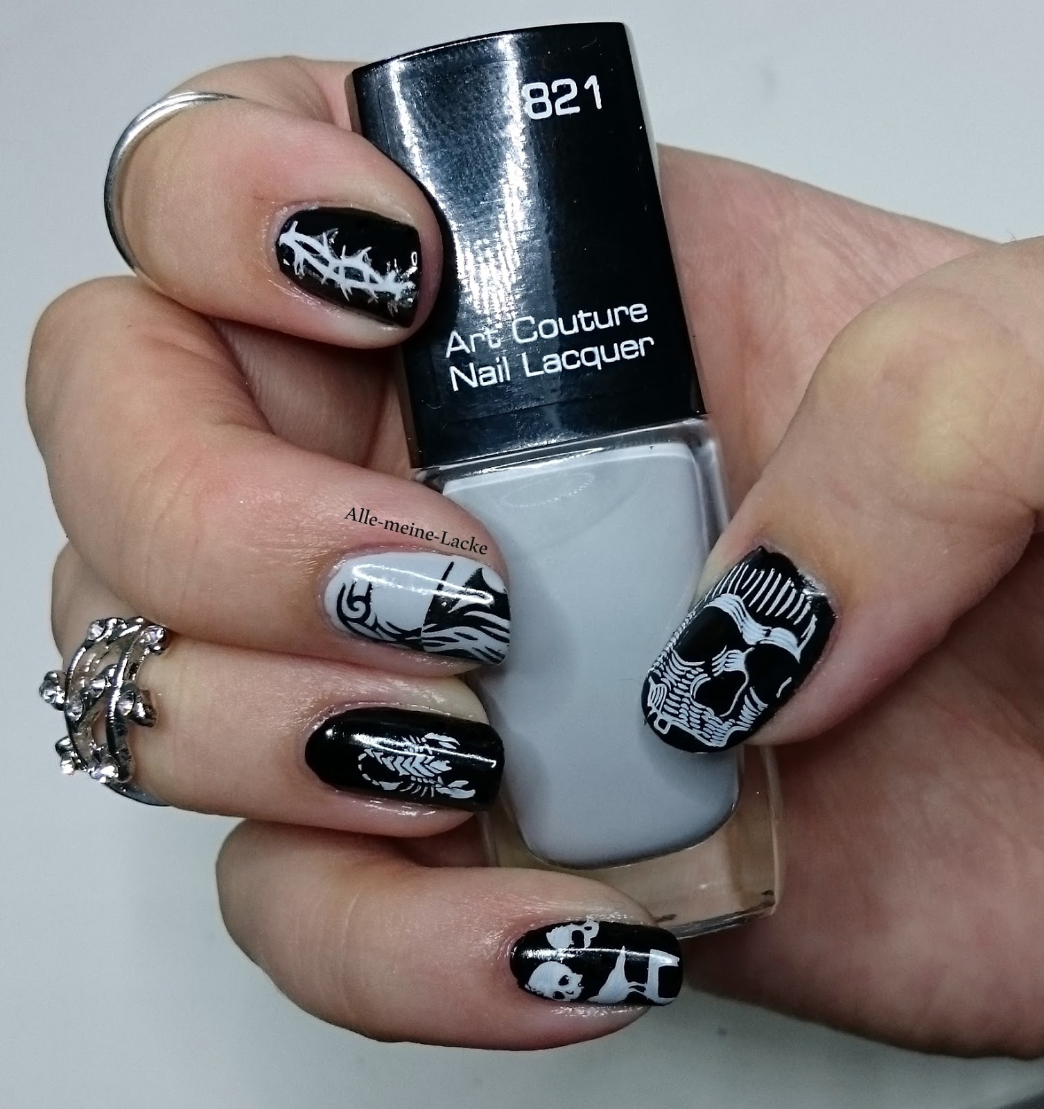 Alle meine Lacke: Coole Nägel im Rock-Design