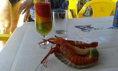 Coquetel da Crocobeach e lagosta