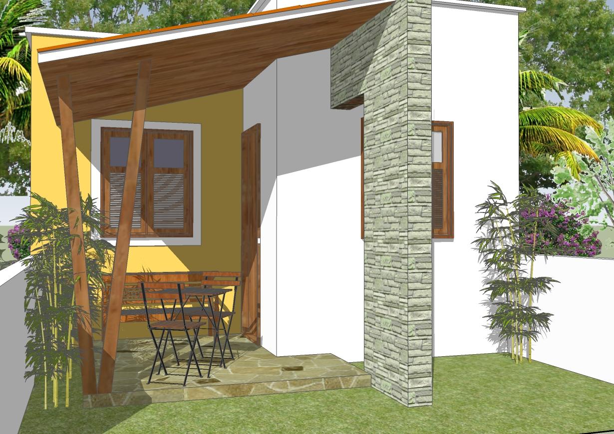 Quartos terreno 5m de frente 10 x R$ 9 90 Clique Projetos #A56E26 1230 870
