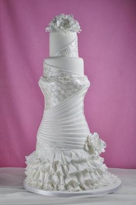 оригинална сватбена торта