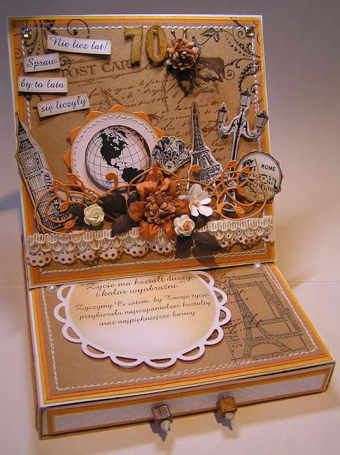 Moemory Box Valerian Flourish (98196), kartka sztalugowa z szufladką