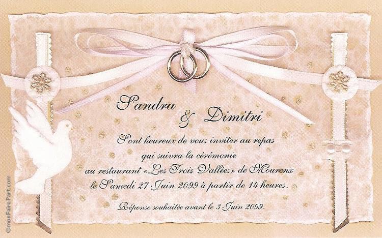 Bien-aimé Carte d invitation de mariage gratuit – Votre heureux blog photo  AC66