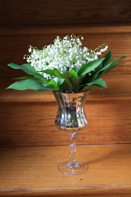 Mercury Glass Lily of the Valley Flower Arrangement - Splendid Stems Floral Designs - Schenectady NY