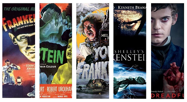 Frankenstein en cinq adaptations