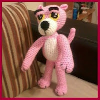 Pantera rosa grande amigurumi