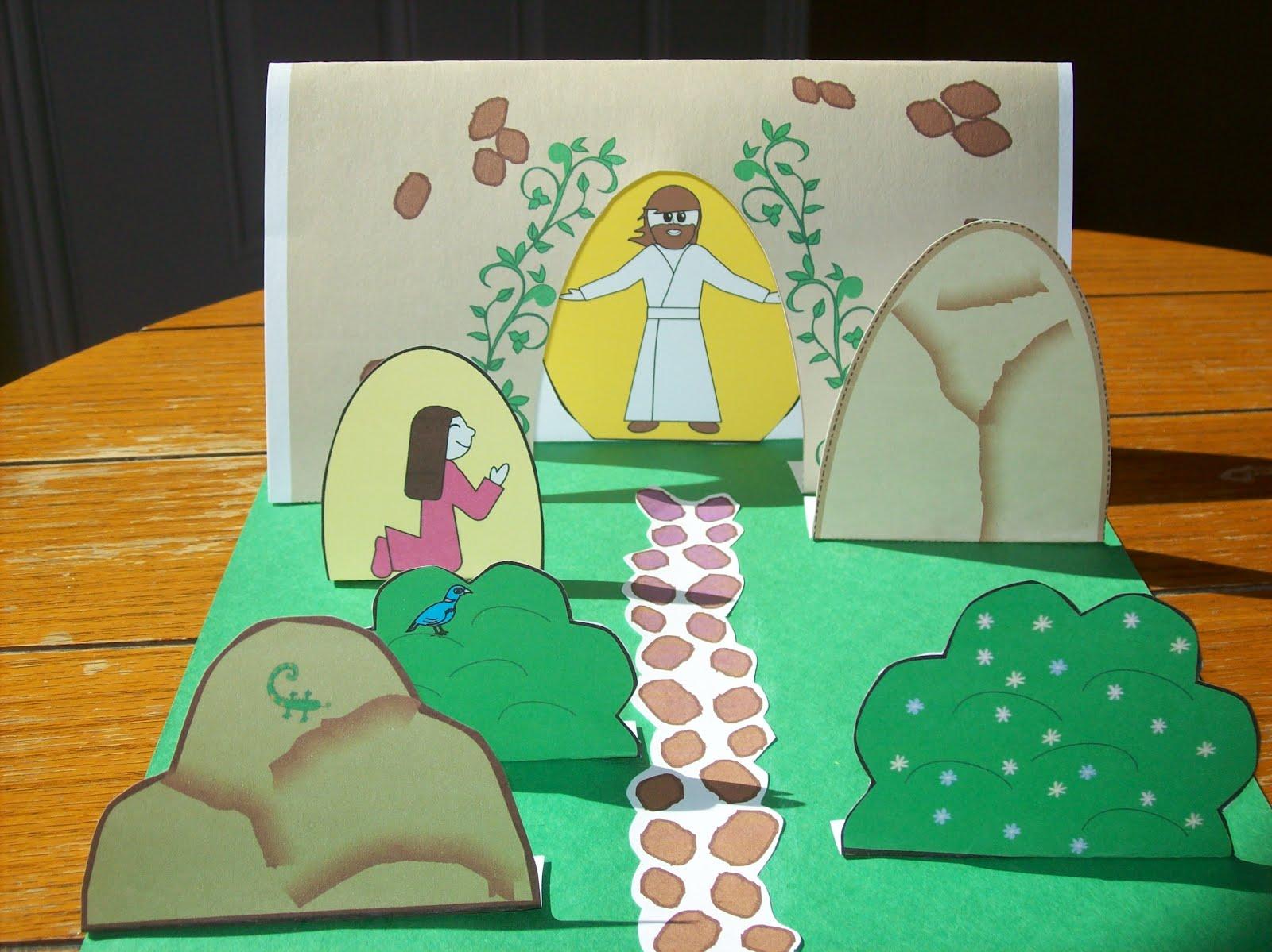 MANUALIDADES PARA LA ESCUELA DOMINICAL Marzo 2012