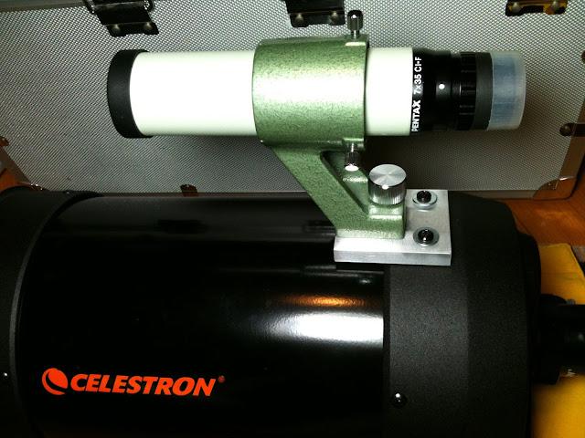 讓Pentax 7x35 CI-F 尋星鏡也可以裝上Celestron C6 的轉接座