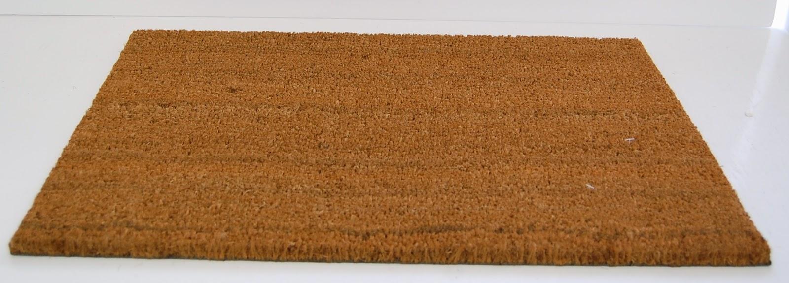 Handmade diy stencilled door mat craft project for Door mats argos