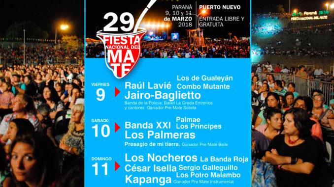 29º Fiesta Nacional del Mate 2018 Paraná