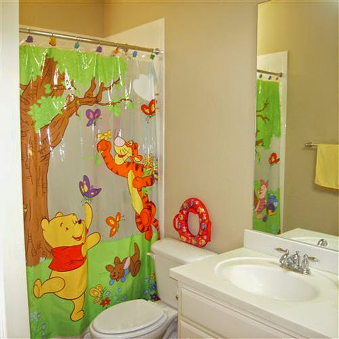 Kids bathroom tile and color