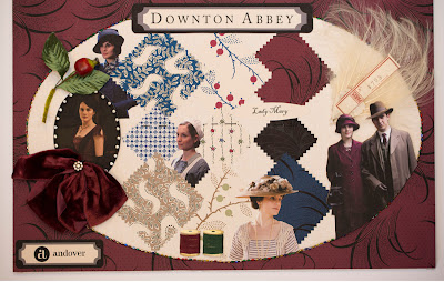 Lady Mary Fabrics from Downton Abbey for Andover