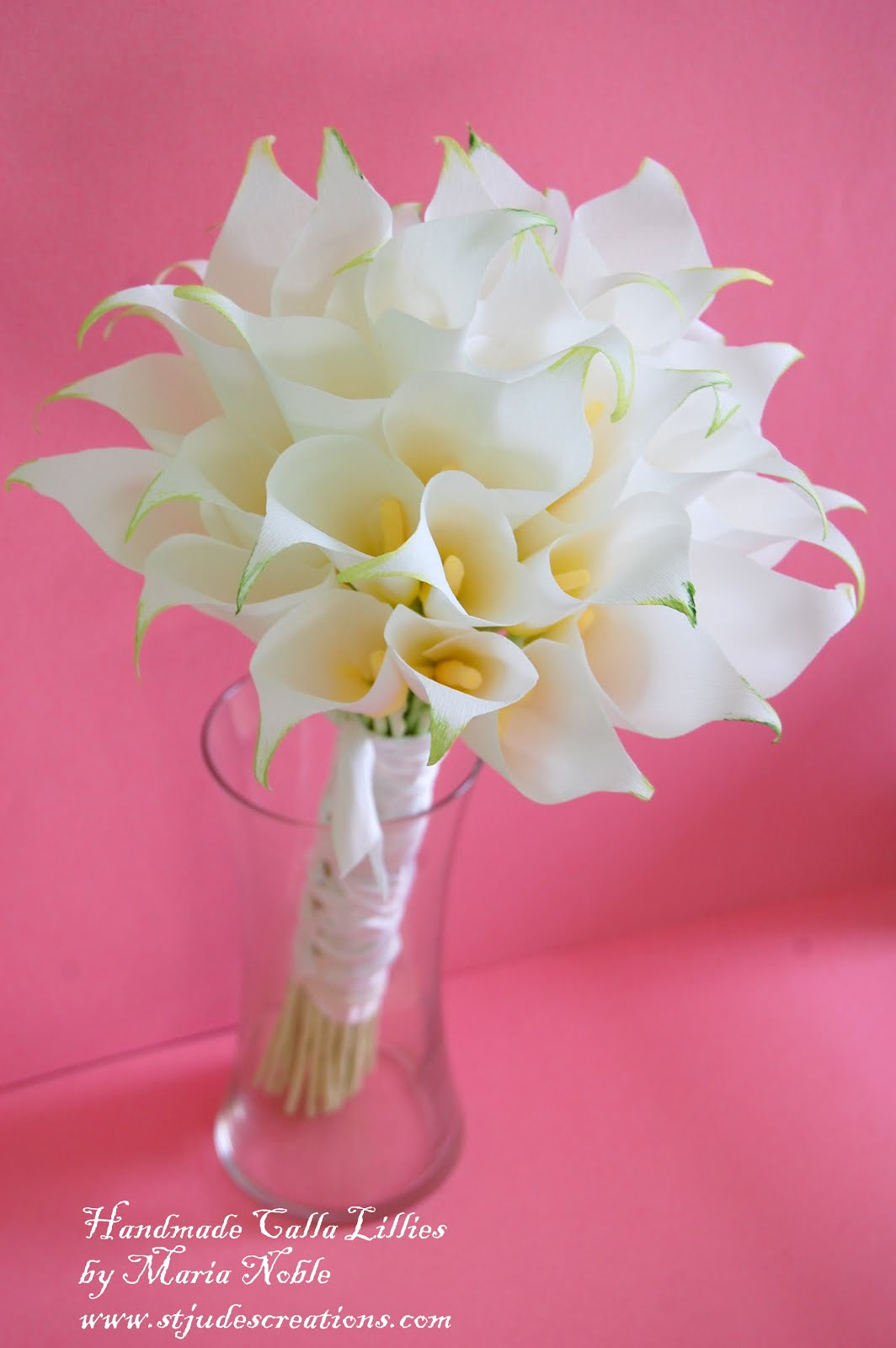 Calla Lilly Wedding paper flower Bouquet for Boyd recreation ...