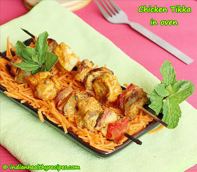 Chicken Tikka in oven
