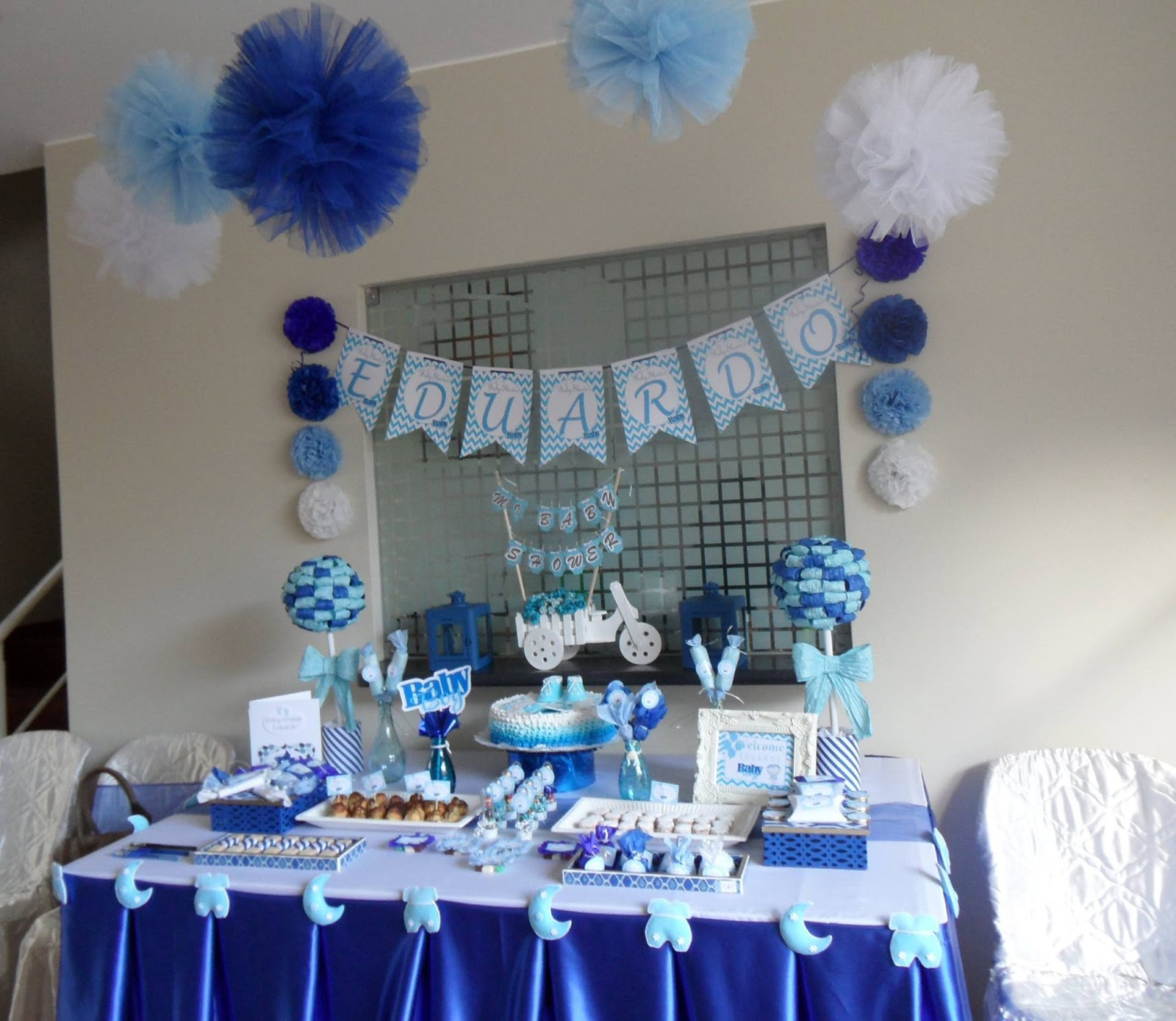 Decoracion baby shower varon for Decoracion para baby shower en casa