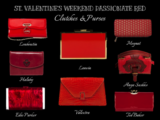 Green Pebbles Blog St Valentine's Weekend Passionate Red Clutches
