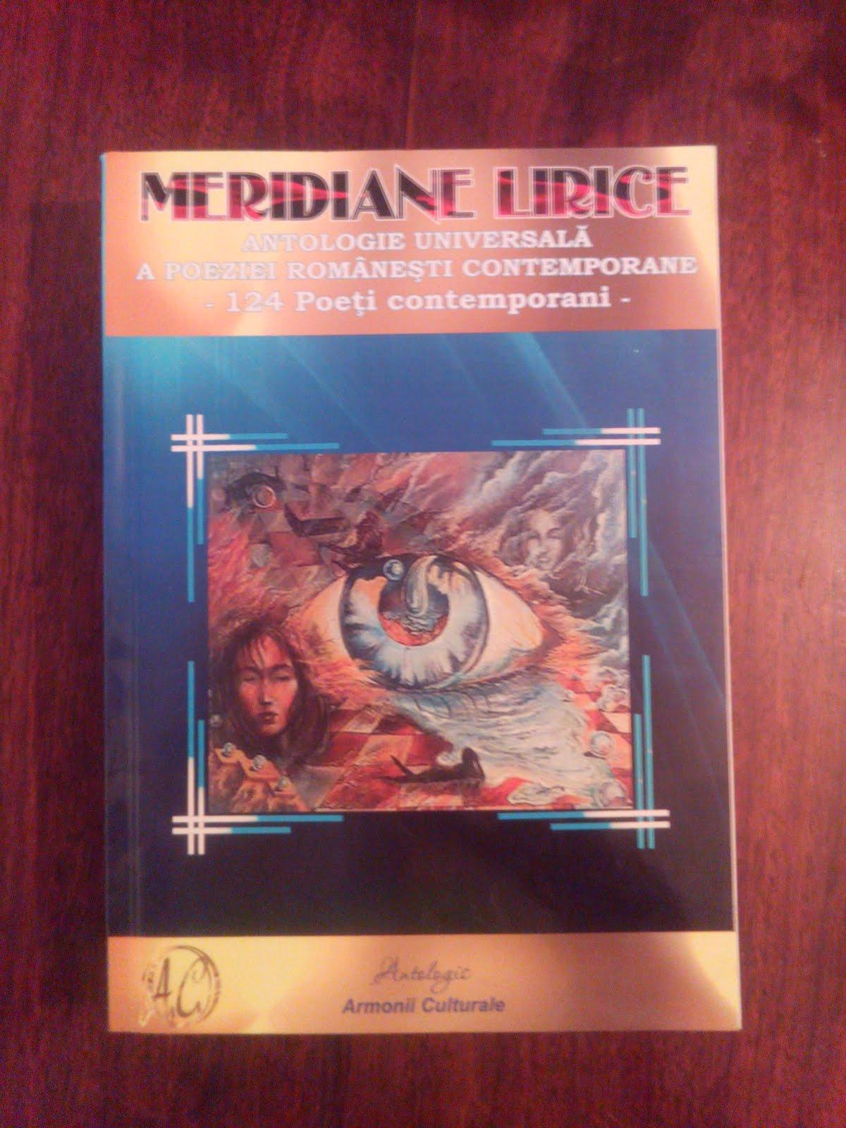 """""""Meridiane Lirice""""- Antologie universală a poeziei româneşti contemporane"""