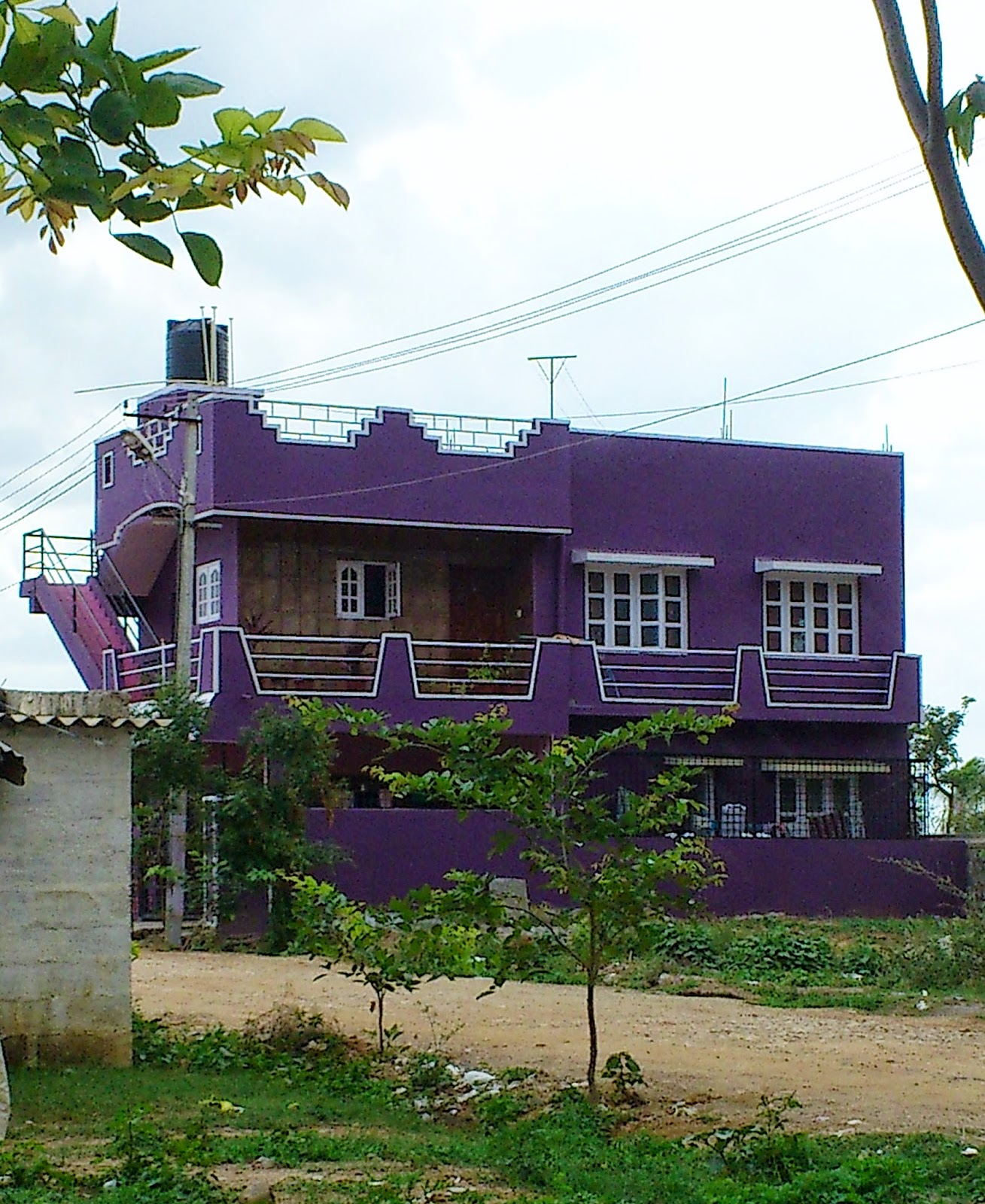 Take diversion the colour purple for Home outer colour design
