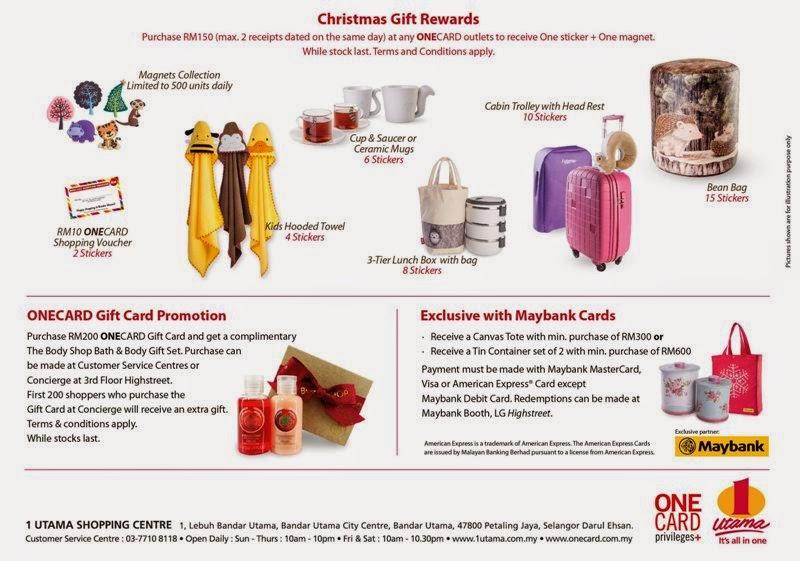 A Rustic Woodland Christmas, Love & Joy, 1 Utama, Christmas 2014, Christmas Rewards, Christmas Pressents