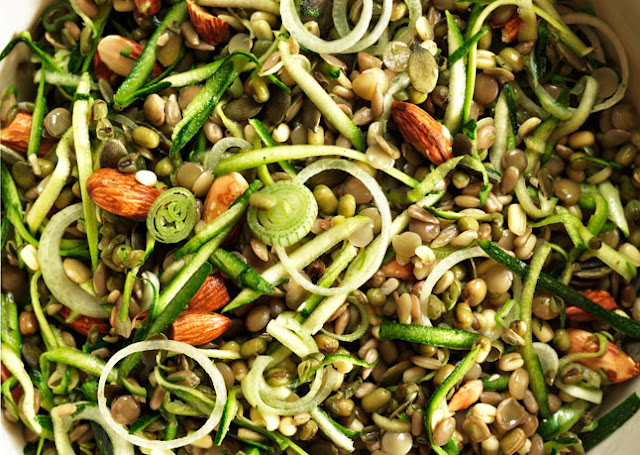 Brown Rice Salad w/ Crunch Sprouts and Seeds