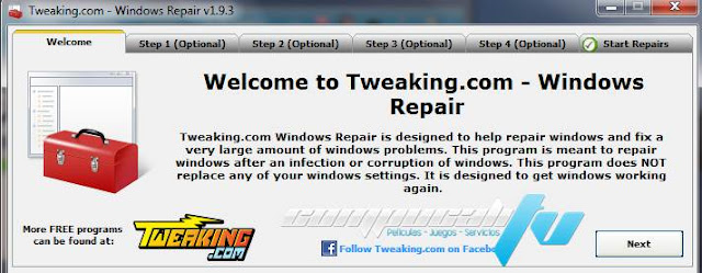 Windows Repair Todo en uno Utilidad para Reparar Errores de Windows