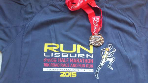 Lisburn 10K 2015 T Shirt and medal