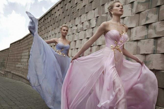 Manhattan Mayhem Evening Dresses by Galia Lahav - pink and blue