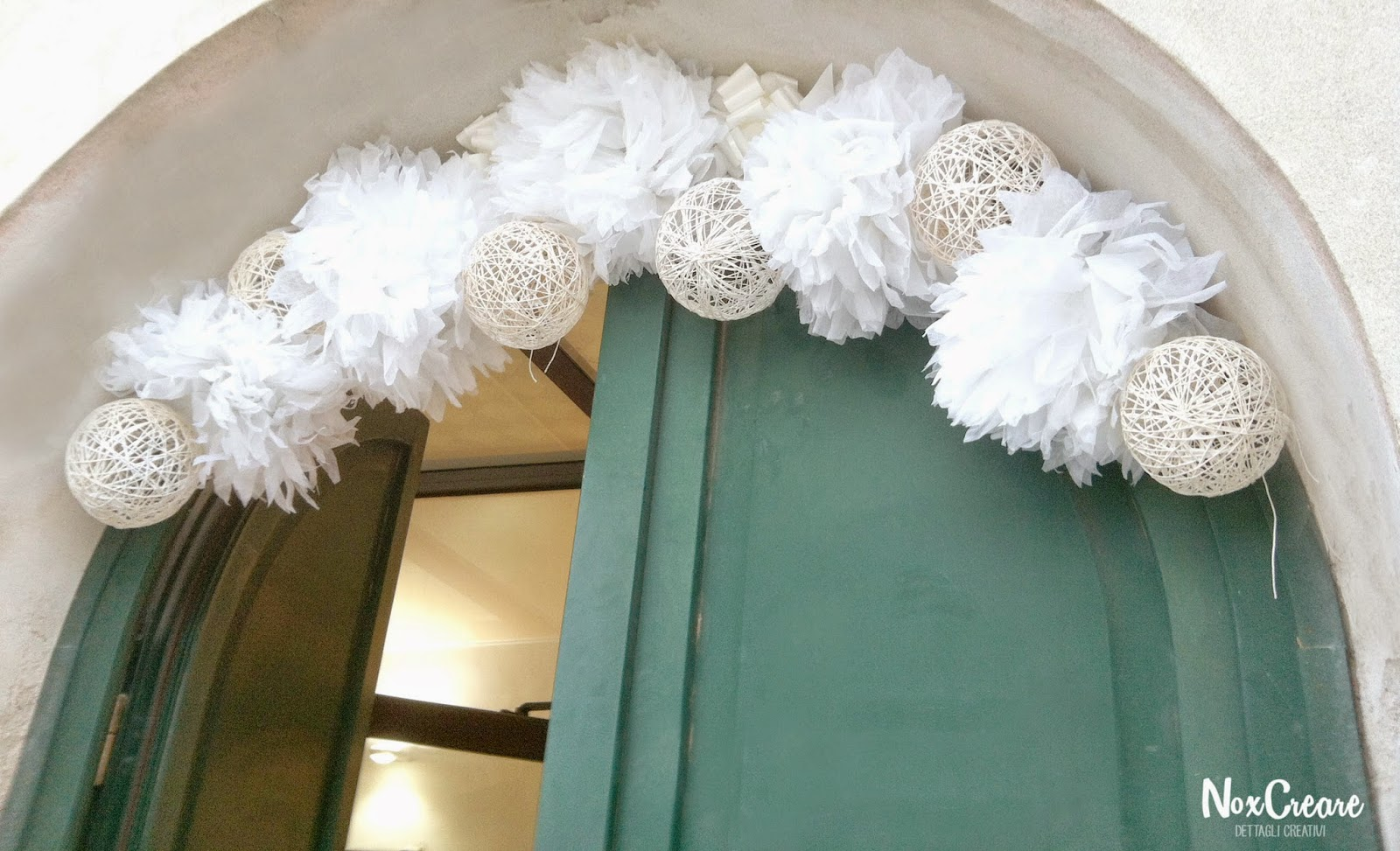 Noxcreare come risparmiare con stile decorazioni matrimonio a f - Decorare un arco per natale ...