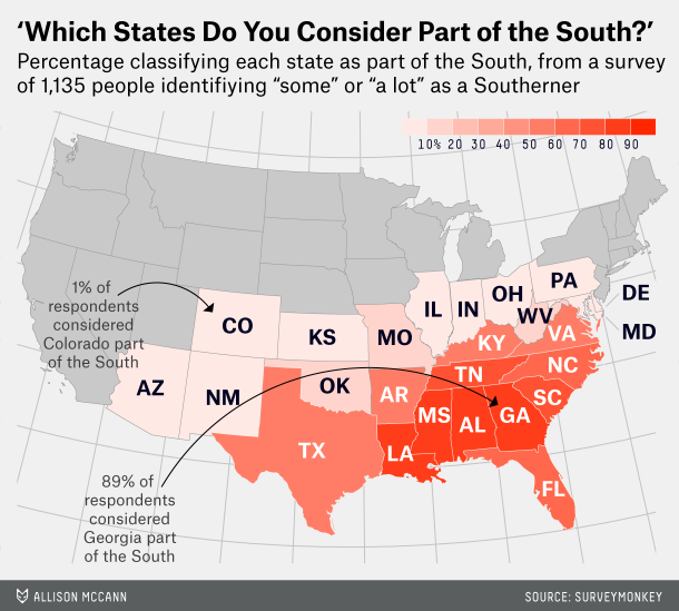 Geog100 1 a geographic approach to physical and human systems source fivethirtyeight httpfivethirtyeightdatalabwhich states are in the south publicscrutiny Choice Image