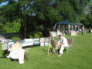Working the Marmora Art in the Park Show