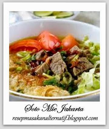 Resep dan Cara Membuat Soto Mie Jakarta (Betawi)