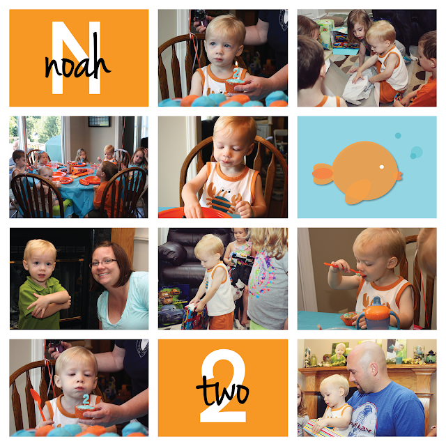 "Noah's Fish-Themed Second Birthday Party | more than 9 to 5: my life as ""Mom"""
