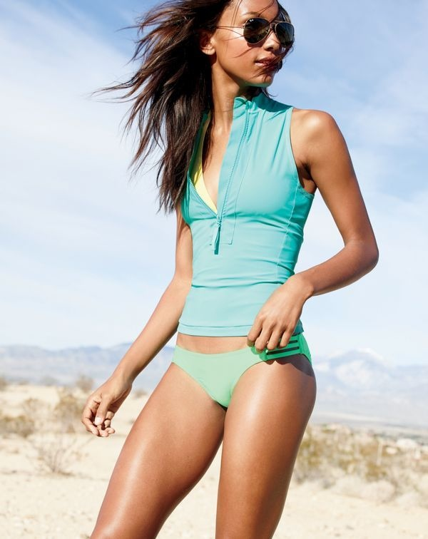 J. Crew  Swimwear Lookbook May 2015 featuring Jasmin Tookes