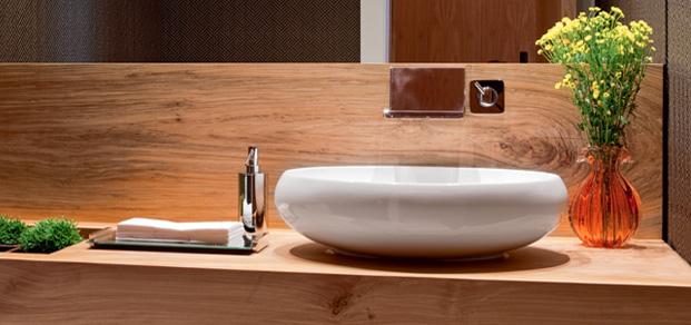 bancada lavabo com cuba