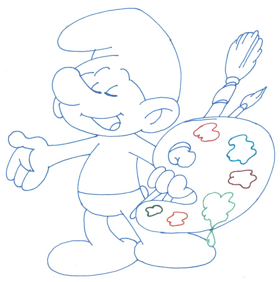4 painter smurf coloring pages u003e u003e disney coloring pages