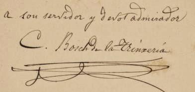 Firma de la Carta de Carles Bosh de la Trinxeria a Marià Aguiló